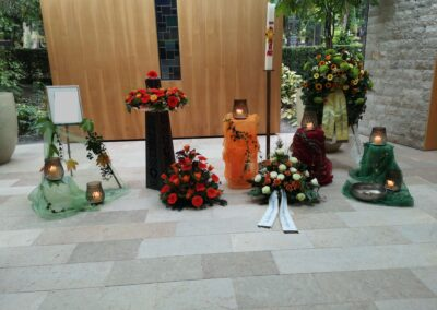 Dekoration am Hauptfriedhof Ravensburg
