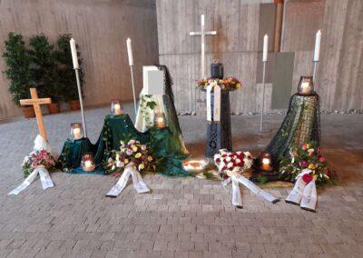 Dekoration am Westfriedhof Ravensburg